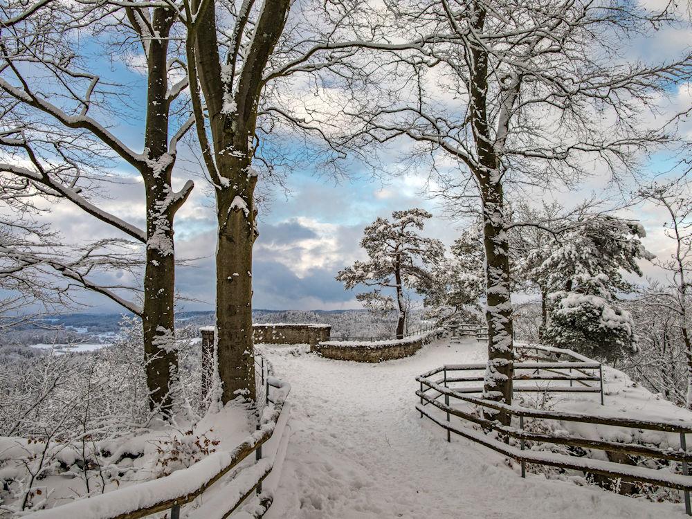 Burgruine Leienfels im Winter