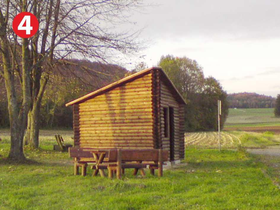 Infopavillon Dreieckshütte im Naturpark Fränkische Schweiz - Frankenjura