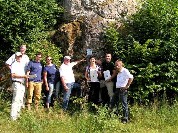 Die Mitglieder der Arbeitsgruppe Kletterkonzepte ©naturpark
