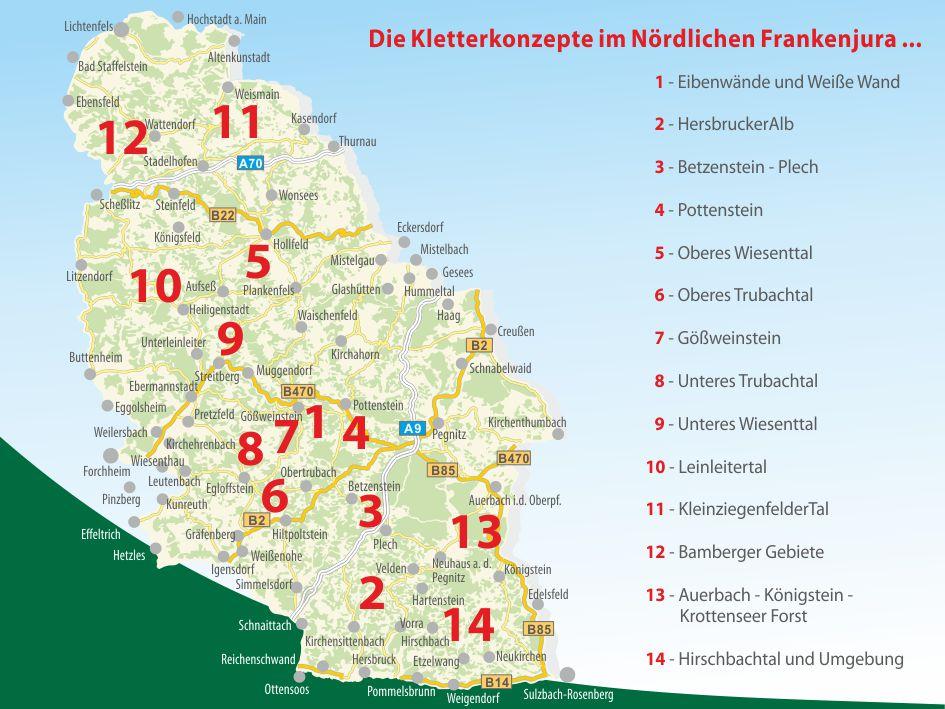 Kletterkonzepte im Naturpark Fränkische Schweiz - Frankenjura
