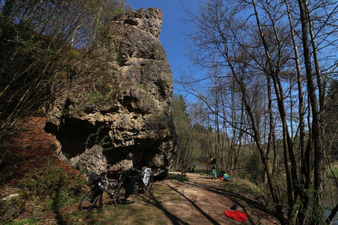 Klettern am Fels im Naturpark Fränkische Schweiz - Frankenjura