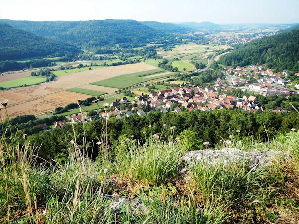 Blick ins Wiesenttal bei Gasseldorf