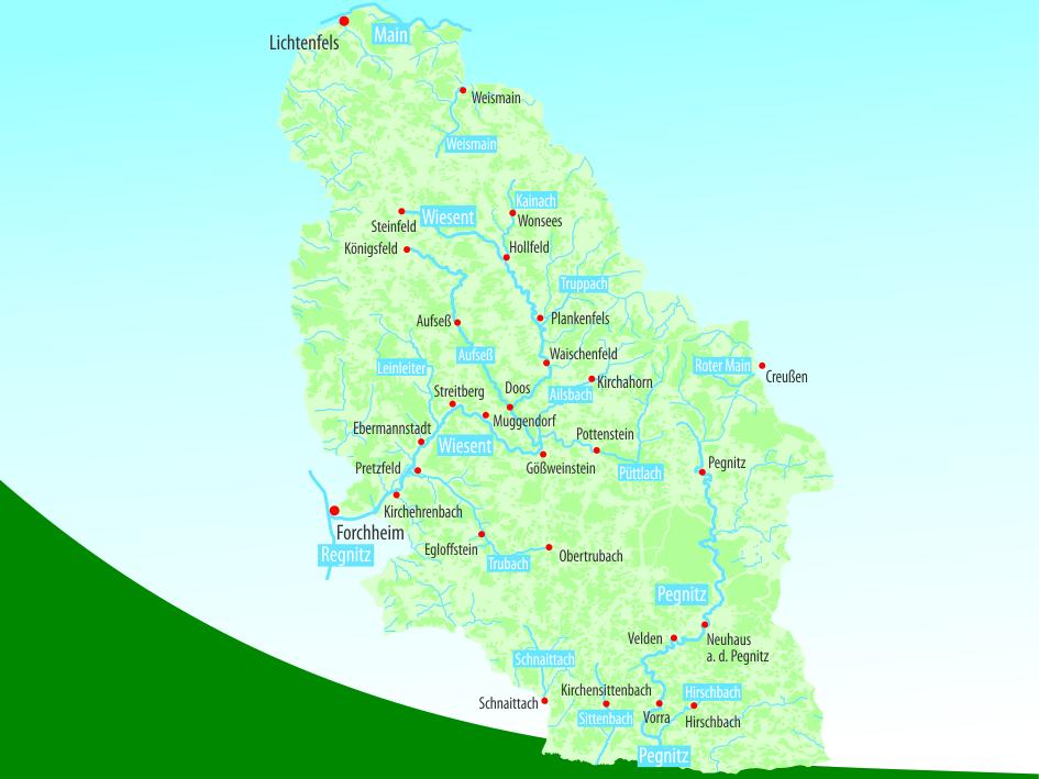 Gewässerkarte Übersicht