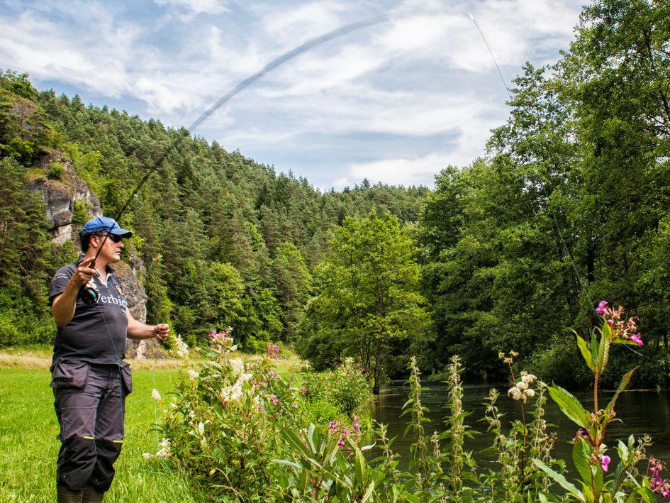 Fliegenfischen im Naturpark Fränkische Schweiz - Frankenjura