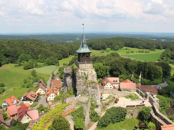 Burg Hohenstein - ein markanter Punkt im südlichen Teil des Naturparks.