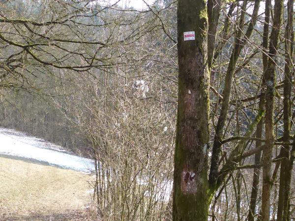 Vandalismus am Frankenweg