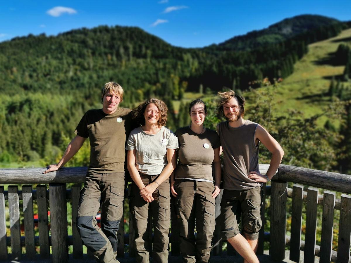 Die vier Naturparkranger vom Naturpark Fränkische Schweiz - Frankenjura