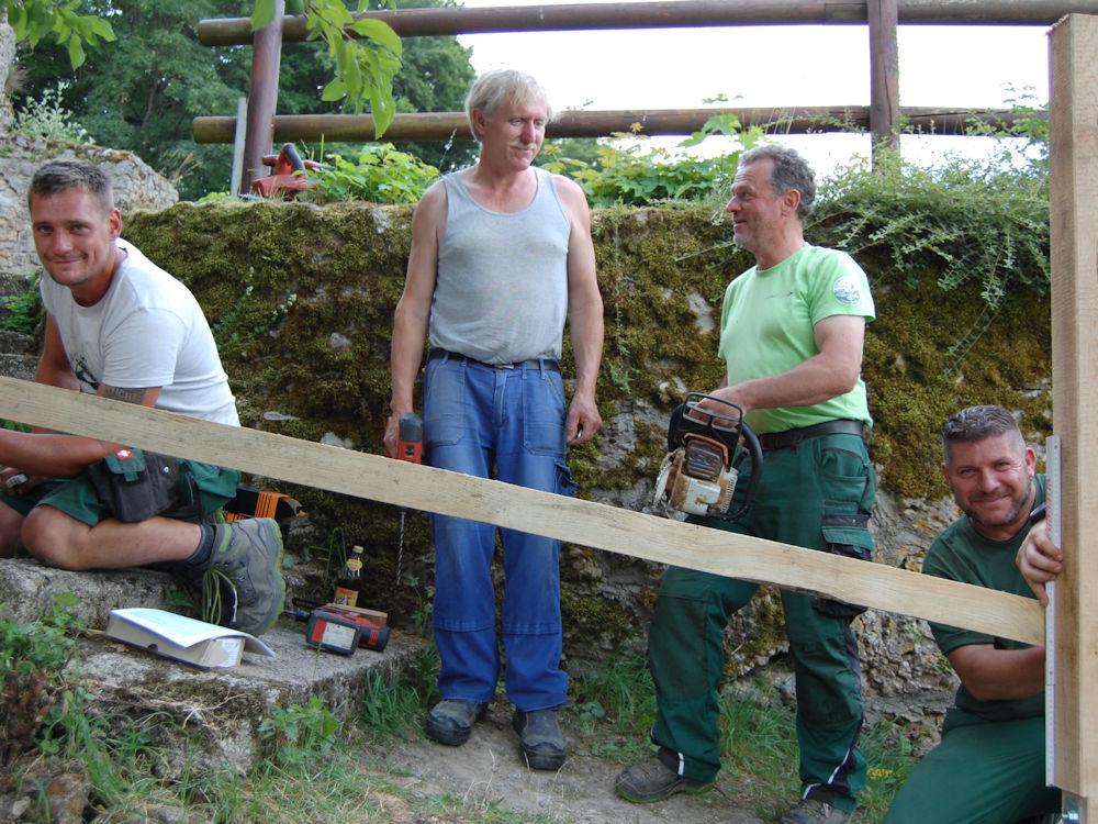 Arbeiten des Naturarbeitstrupps