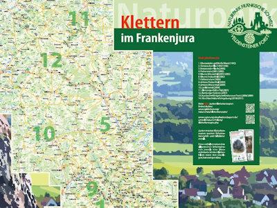 Faltblatt Klettern im Frankenjura